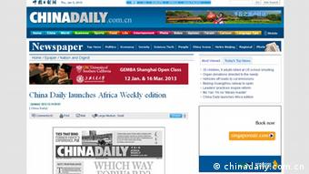 Screenshot Website China Daily