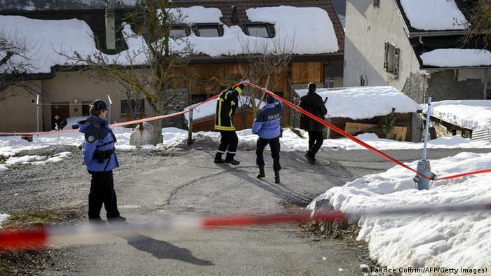 Police search evidence at Daillon after shooting rampage