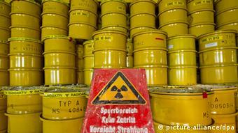 Бочки с радиоактивными отходами в хранилище Морслебен