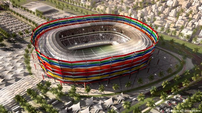 A computer image of the 'Al Garafa' stadium, to be built in Doha, Qatar, for the FIFA World Cup 2022. Photo by Balkis Press/ABACAUSA.COM