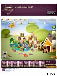 image of a screenshot of online game Mahjong Diamonds