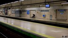Spanien Madrid Metro Streik