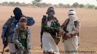 Kämpfer der Gruppe Ansar Dine in Mali Foto: ROMARIC OLLO HIEN/AFP/GettyImages)