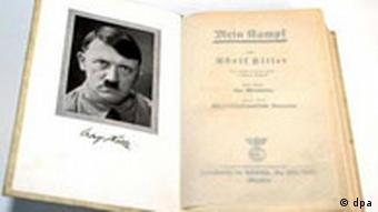 A copy of Adolf Hitler's Mein Kampf