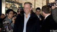 Google-Chef Eric Schmidt besucht Nordkorea