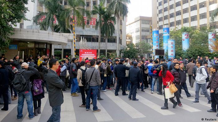 China Demonstration in Guangzhou für die Zeitung Southern Weekly