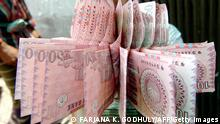 Bangladesch Banknoten in Dhaka
