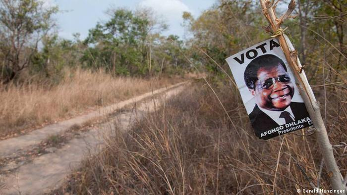 Wahlplakat RENAMO - Afonso Dhlakama