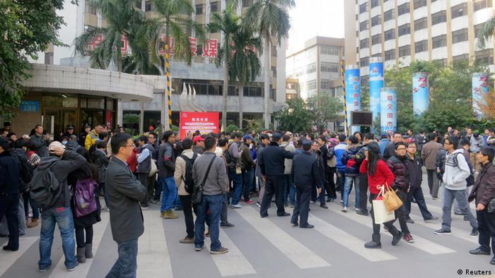 Proteste gegen Zensur Presse in China
