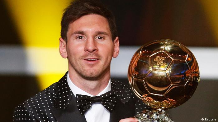 Lionel Messi Fußballer des Jahres 2012