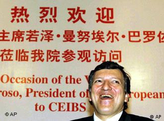 European Commission President Jose Manuel Barroso at the China Europe International Business School in Shanghai