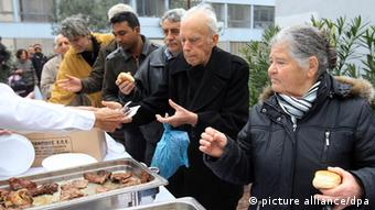 Grilldonnerstag in Athen (Foto: dpa)