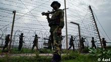 Grenze Patrouille Indien Pakistan
