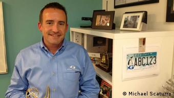 Scott Higley, Georgia Aquarium's Vice President of Marketing and Communications, in one of the facility's offices. (Photo: Michael Scaturro)