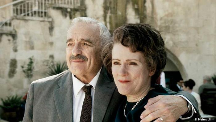 A scene from the film starring Barbara Sukowa as Hannah Arendt, right, and Michael Degen as Kurt Blumenfeld