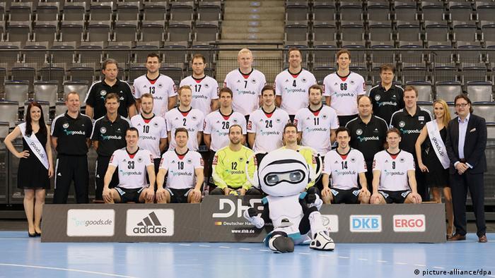 German handball team photo. Foto: Thomas Niedermüller/dpa