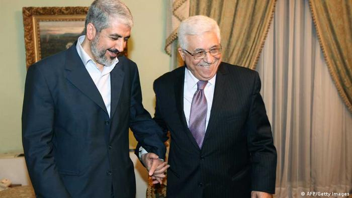 Khaled Meshaal und Mahmud Abbas (AFP/Getty Images)