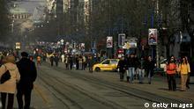 Bulgarien Straße in Sofia Fußgänger