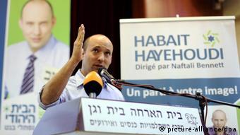 Polit-Aufsteiger Naftali Bennett (Foto: Abir Sultan/EPA)