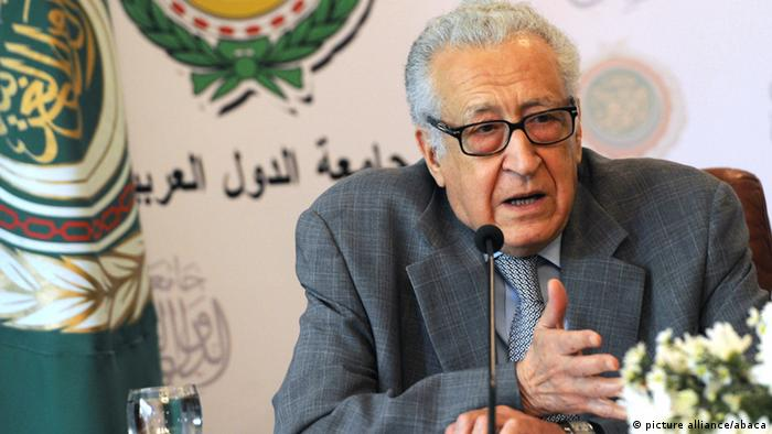 UN-Arab League peace envoy Lakhdar Brahimi give a press conference with Arab League General Secretary Nabil al-Arabi (unseen) after their meeting in Cairo, Egypt, on December 30, 2012. Brahimi warned that the Syrian war was worsening 'by the day' as he announced a peace plan he believed could find support from world powers, including key Syria ally Russia. Photo by Mohammed Elshamy/AA/ABACAPRESS.COM pixel