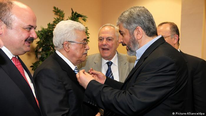 Mahmud Abbas und Chaled Meschaal in Kairo