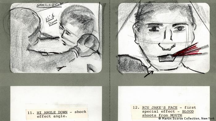 One of Martin Scorsese's storyboards from his film Raging Bull (1980)