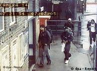 Imagem de  circuito interno: terroristas antes da explosão em Londres