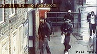 CCTV cameras showing the four London bombers