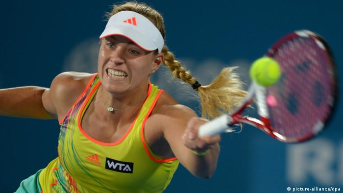 Angelique Kerber beim Turnier in Sydney (Foto: dpa)
