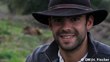 Filipe Alves vom Projekt Biovilla in Portugal (Foto: DW/Hilke Fischer)