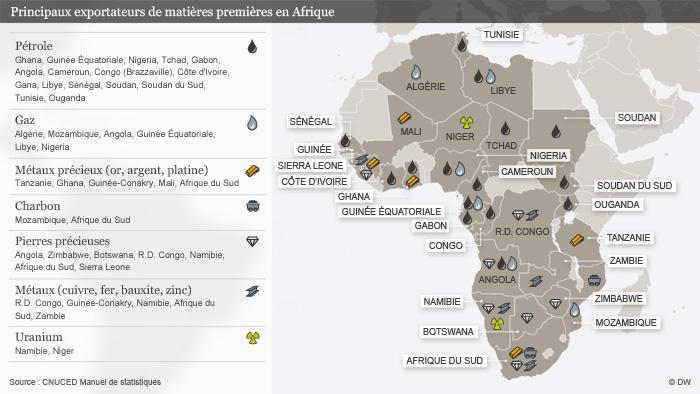 Carte Afrique Ressources Naturelles.A Qui Profitent Les Ressources Naturelles Que Reste T Il