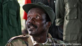 (FILES) A file photo taken on November 12, 2006, shows the leader of the Lord's Resistance Army (LRA), Joseph Kony, answering journalists' questions in Ri-Kwamba, southern Sudan, following a meeting with UN humanitarian chief Jan Egeland. Uganda's rebel Lord's Resistance Army vowed on September 13, 2008 to sign a final peace deal but warned it will not disarm until International Criminal Court arrest warrants for alleged war crimes are 'resolved'. LRA spokesman David Nyekorach-Matsanga said rebel chief Joseph Kony was willing to sign the much delayed peace deal, speaking as military pressure mounts against the northern Ugandan insurgents. AFP PHOTO /STUART PRICE (Photo credit should read STUART PRICE/AFP/Getty Images)
