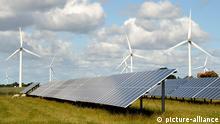 Deutschland Energie Solarenergie und Windkraft