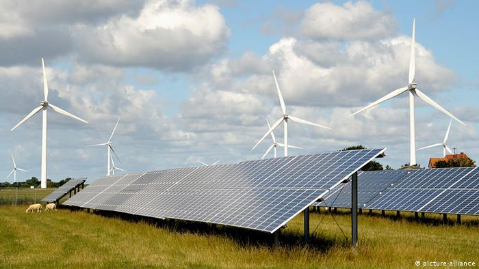 Солнечные батареи и ветрогенераторы в Германии