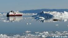 Grönland Schiff im Eis