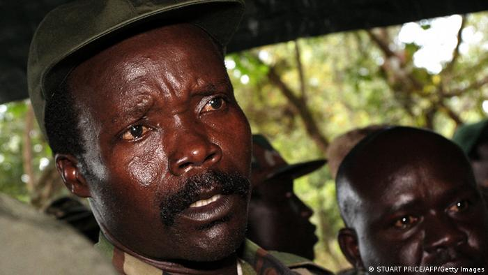 LRA leader Joseph Kony in a jeep. Photo:STUART PRICE/AFP/Getty Images