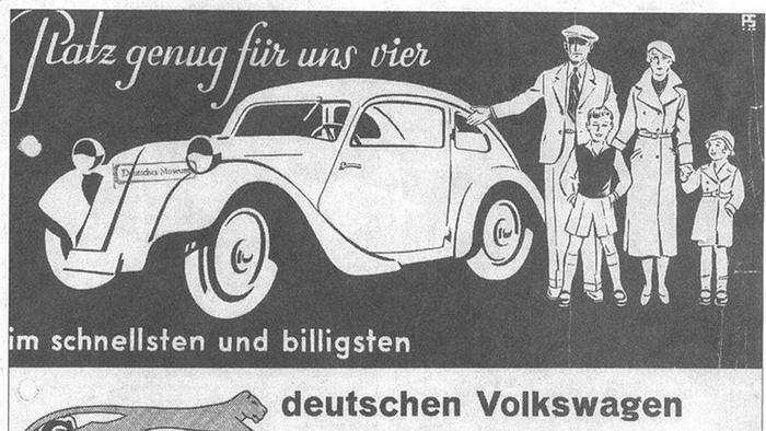 Реклама народного автомобиля Йозефа Ганса
