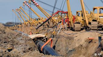 Прокладка газопровода OPAL