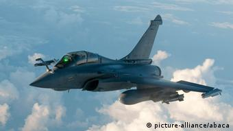 French Rafale fighter plane takes off from Istres military base, eastern France on March 19, 2011 on a mission to overfly Libya following UN Security Council resolution.