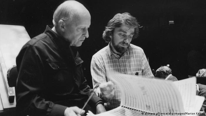 Lutoslawski (l) worked together with people such as Polish pianist Krystian Zimerman