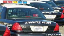 Stockton Police Cars: Polizeiwagen in Stockton Bild: Stockton, Kalifornien, USA, Anne Allmeling/DW