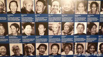 Porträtsammlung von Überlebenden einer Frauenselbsthilfegruppe (Foto: Sarah Faupel)