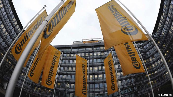 Continental flags at head office (REUTERS)