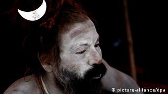 An Indian Naga Sadhu or naked holy man EPA/ANINDITO MUKHERJEE +++(c) dpa - Bildfunk+++ pixel