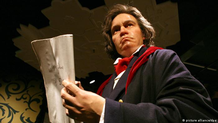 Beethoven as a wax figure Photo: Rainer Jensen dpa +++(c) dpa - Report+++