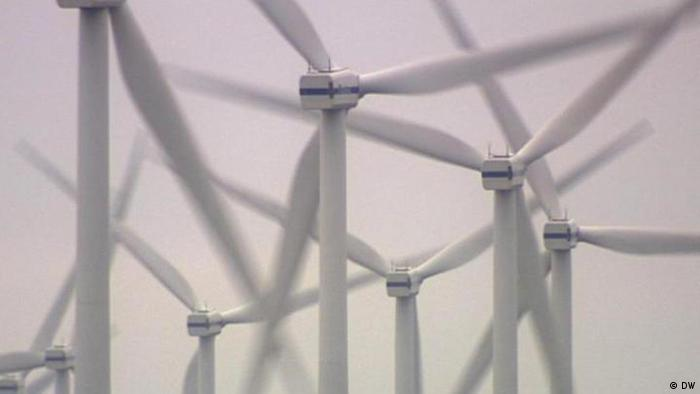 A German wind park (Photo: Brasilian section, Deutsche Welle)
