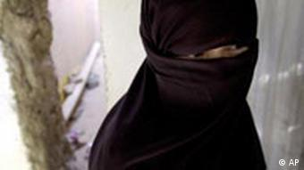 A fully veiled woman in Pakistan