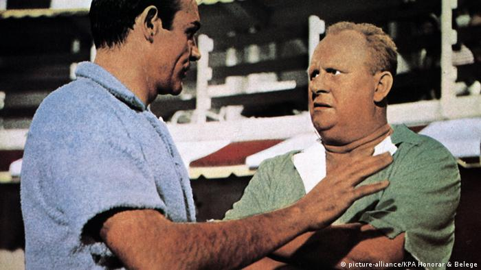 German Gert Fröbe played Goldfinger in the film of the same name, and remains a Bond classic.