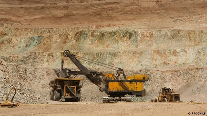 Mina de cobre en el desierto de Atacama