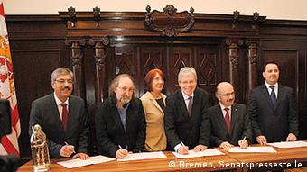 The signing ceremony